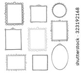 hand drawn frames set. cartoon... | Shutterstock .eps vector #323192168
