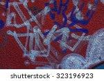 beautiful street art of... | Shutterstock . vector #323196923
