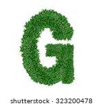 alphabet made of green grass... | Shutterstock . vector #323200478
