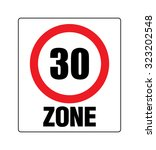 traffic sign  speed limit of... | Shutterstock .eps vector #323202548