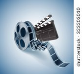 cinema production roll | Shutterstock .eps vector #323203010