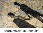 Shadows A Two Children Boys - Fine Art prints