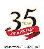 35years anniversary template... | Shutterstock .eps vector #323212460