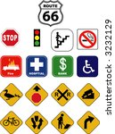 street signs | Shutterstock .eps vector #3232129