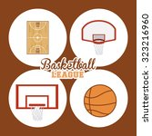 basketball concept with league... | Shutterstock .eps vector #323216960