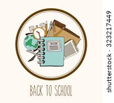 eduaction  concept with back to ... | Shutterstock .eps vector #323217449