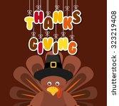 happy thanksgiving design ... | Shutterstock .eps vector #323219408