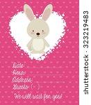 baby shower design  vector... | Shutterstock .eps vector #323219483