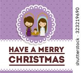 merry christmas concept with... | Shutterstock .eps vector #323219690