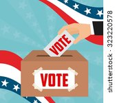 democratic election design ... | Shutterstock .eps vector #323220578