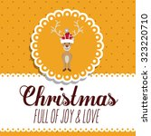merry christmas concept with... | Shutterstock .eps vector #323220710