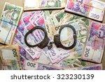 many ukrainian money hryvnia....   Shutterstock . vector #323230139