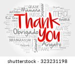 thank you word cloud in vector... | Shutterstock .eps vector #323231198