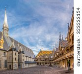 Small photo of BEAUNE,FRANCE - AUGUST 28,2015 - The Hospices de Beaune is a former charitable almshouse in Beaune. It was founded in 1443 by Nicolas Rolin, chancellor of Burgundy, as a hospital for the poor.