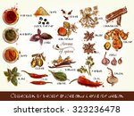 a collection of vector spices... | Shutterstock .eps vector #323236478