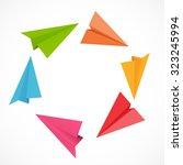 airplane backgrund illustration.... | Shutterstock . vector #323245994