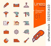 lineo colors   construction and ... | Shutterstock .eps vector #323251610