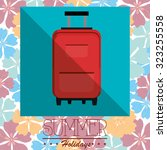 summer vacations design  vector ... | Shutterstock .eps vector #323255558