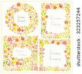 thick flower frames  | Shutterstock .eps vector #323257244