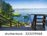 Empty Wooden Jetty On The Lake...