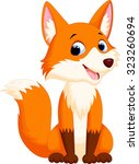 cute fox cartoon | Shutterstock . vector #323260694
