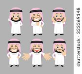 set of arab characters in... | Shutterstock .eps vector #323269148