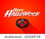 happy halloween vector banner ... | Shutterstock .eps vector #323269718