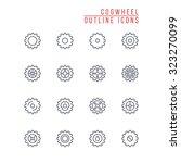 cogwheel outline icons | Shutterstock .eps vector #323270099