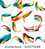 set of colorful flowing motion... | Shutterstock .eps vector #323270288