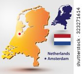 map of the netherlands. vector... | Shutterstock .eps vector #323271614