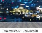 opening wooden floor  defocused ... | Shutterstock . vector #323282588