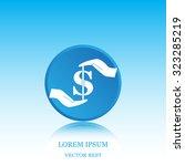 pictograph of money in hand   Shutterstock .eps vector #323285219
