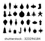 christmas decorative items    Shutterstock .eps vector #323296184