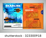 layout magazine. editable vector | Shutterstock .eps vector #323300918