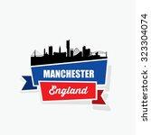 manchester ribbon banner  ... | Shutterstock .eps vector #323304074