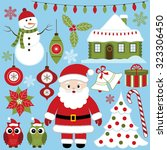 christmas set | Shutterstock .eps vector #323306450