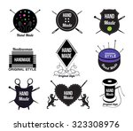 Set Hand Made Logo  Labels And...