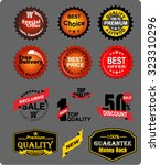 top quality  sticker | Shutterstock .eps vector #323310296