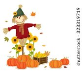 illustration of autumn... | Shutterstock .eps vector #323319719