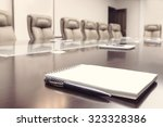 conference room before meeting  ... | Shutterstock . vector #323328386