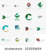 set of abstract wavy elements.... | Shutterstock .eps vector #323330654