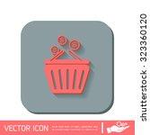 shopping cart with money | Shutterstock .eps vector #323360120