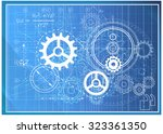 abstract technical background   ... | Shutterstock . vector #323361350