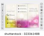 tri fold brochure mock up...   Shutterstock .eps vector #323361488