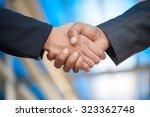 hand business men and women who ... | Shutterstock . vector #323362748