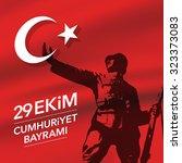29th october national republic... | Shutterstock .eps vector #323373083