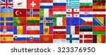 collage of different european...   Shutterstock . vector #323376950