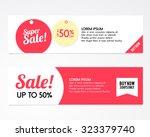 sale banner design | Shutterstock .eps vector #323379740