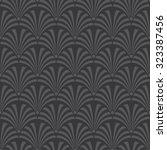 seamless dark gray luxury art... | Shutterstock . vector #323387456