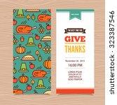 vector thanksgiving day... | Shutterstock .eps vector #323387546
